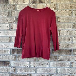 Ann Klein sport 3/4 sleeve red top size pl